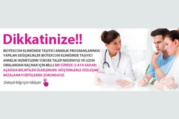 Biotexcom kliniğinde taşıyıcı annelik programlarında yapılan değişiklikler